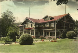 [Bowen Island Inn showing glassed-in balcony and verandah]