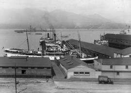 "[The ""Cardena"" at the Union Steamship dock]"