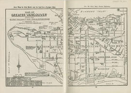 Sectional map and street directory of Vancouver, British Columbia : map of Greater Vancouver