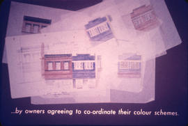 By owners agreeing to co-ordinate their colour schemes