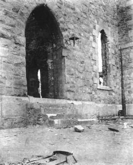 [Portion of Holy Trinity Church after fire of September 10, 1898]