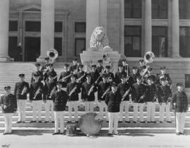 Vancouver City Fireman's Band on Courthouse steps