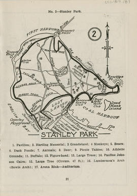Sectional map and street directory of Vancouver, British Columbia :  map of Stanley Park