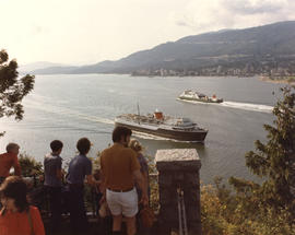 "CP ferries ""Princess Carrier"" and ""Princess of Vancouver"" from Prospect Point..."
