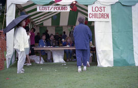 Lost and found tent
