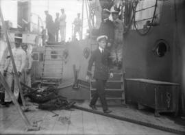 "View of the deck of H.M.S. ""New Zealand"""