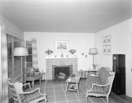 [Interior view of sitting room at a Bowen Island guest house]