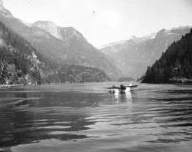 [The Malibu Club float plane on Princess Louisa Inlet]
