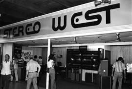 Stereo West display of stereo equipment