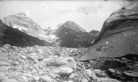 Sir Donald Peak from foot of the great glacier, Selkirks