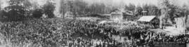 Unveiling of the Harding Memorial in Stanley Park, Vancouver, Canada.  September 16th, 1925.  Ere...