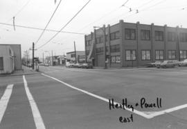 Heatley and Powell [Streets looking] east