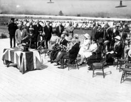 Ceremony, possibly official opening of 1926 Fair