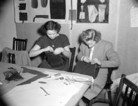 [Women making hand bags]