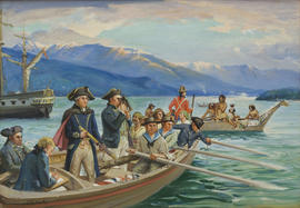 Captain Vancouver surveying English Bay - 1792