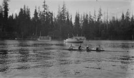 [Four-man scull] in Coal Harbour]