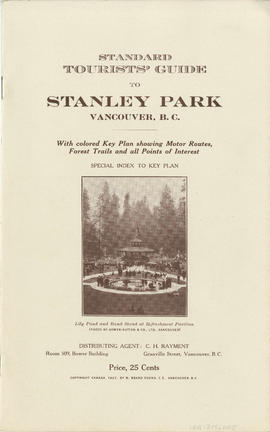 Standard tourist's guide to Stanley Park : cover page