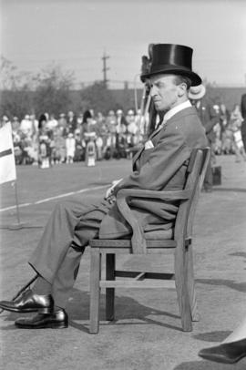 John Buchan (Lord Tweedsmuir) seated at opening of Seaforth Armoury