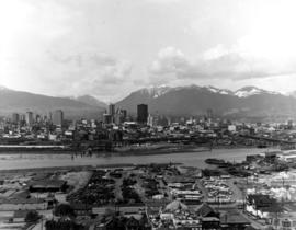 Aerial of Vancouver [looking across False Creek to downtown]