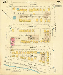Plate 75 [Thurlow Street to Burnaby Street to Bute Street to False Creek]