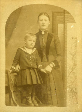 [Studio portrait of Hilda E. Price and her son Thomas Ernest Price]