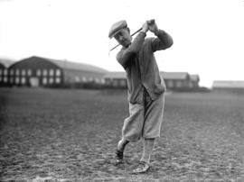 [Alfred Bull teeing off at Jericho Country Club golf course]