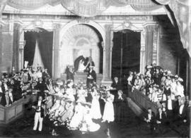"[Cast of ""Trial by Jury"" on stage at the Vancouver Opera House - 731 Granville Street]"
