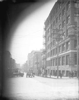 [View of Water Street, looking east from Cambie Street]