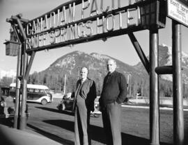 Sir Walter Carpenter and E. Buckerfield at Banff Springs Hotel