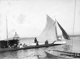[Various boats off Brockton Point]