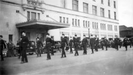 D.C.O.R. Duke of Connaught's Own Rifles marching in a parade