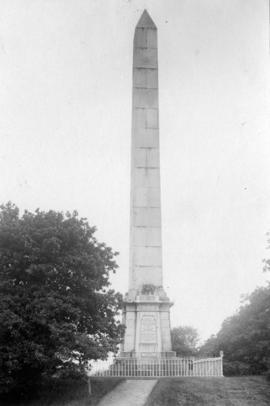 [View of the obelisk dedicated to the memory of Sir Harry Burrard-Neale]