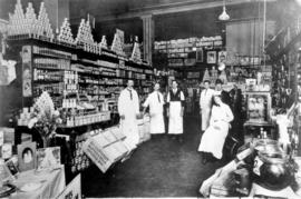 [Interior of] Woodwards Grocery Department [101 West Hastings Street and Abbott Street]