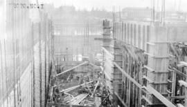 [Job no. V-9, 9a] : photo no. 1 : [photograph of construction site for Imperial Oil service stati...