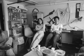 Kathy Wong and Donald Yee at Pender Guy Radio office, 15 East Pender Street