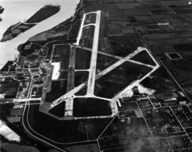 Sea Island airport, aerial photo, east