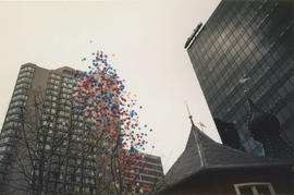 Balloons released at Castle Vancouver opening