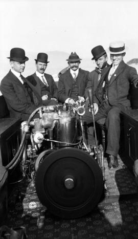 Five men with engine