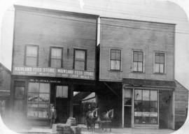 [Exterior of Mainland Feed Store and Chop Mills at 929 Westminster Avenue (Main Street)]
