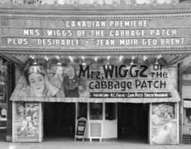 "Orpheum Theatre advertising for ""Mrs. Wiggs of the Cabbage Patch"" October 17-24"