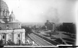 View from YMCA building Montreal, showing general offices C.P.R. and station