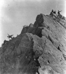 [Boys on the summit of Crown Mountain]