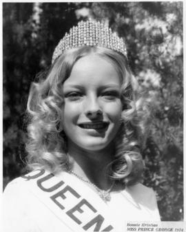 Bonnie Kristian, Miss Prince George 1974 : [portrait]