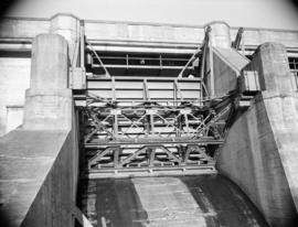 [Close-up view of a portion of a hydro electric dam]