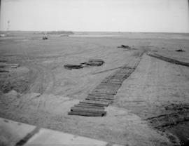 C.S.F. Site, Temporary Cookhouse footings in Background