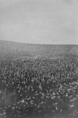 International football match - Hampden Park, Glasgow - after the game