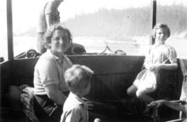 Jane Banfield and John Banfield with woman on boat