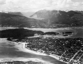 [Aerial view of West End and Stanley Park]