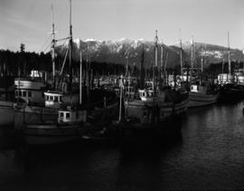 [Fishing boats moored in Coal Harbour]