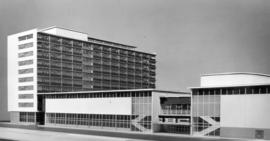 [Model of proposed civic auditorium and CBC building]